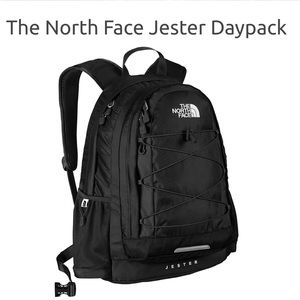The North face black heater backpack